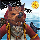 Dogs pirate captain caribbean