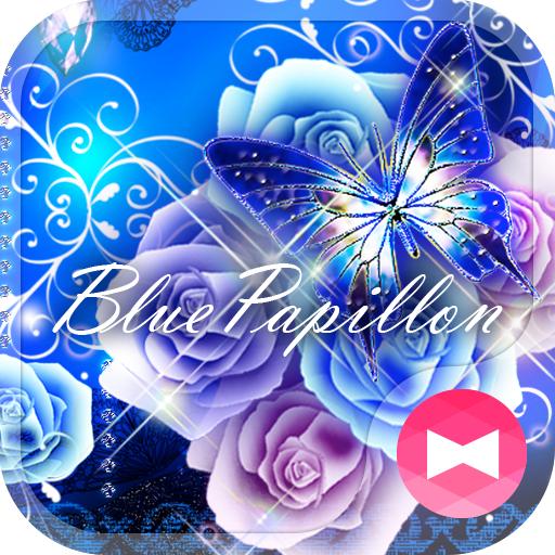 ★FREE THEMES★Blue Papillon Icon