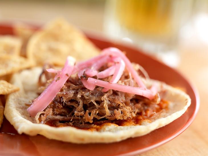 Carnitas Tacos with Salsa De Chile De Arbol and Cebollas Encurtidas Recipe