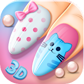 Fashion Nail Salon Games 3D