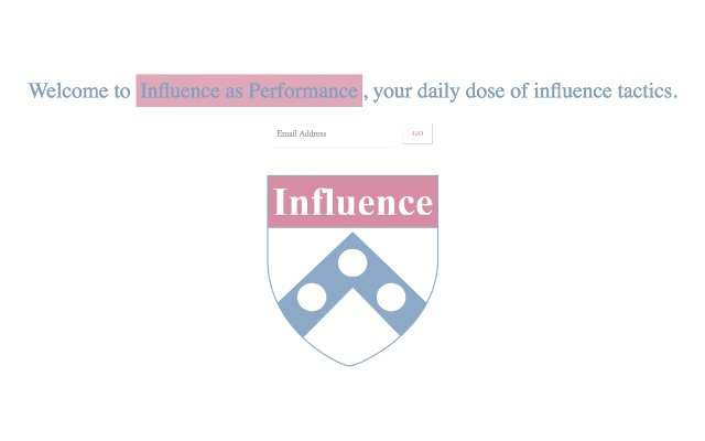 Influence as Performance: New Tab