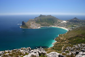 Cape Point near Cape Town South Africa is the southeastern tip of the African continent.