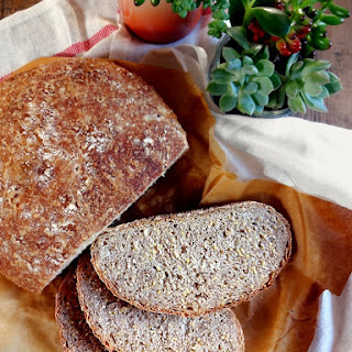 Whole Grain No-Knead Bread.