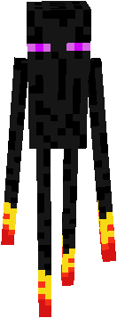 In this work I completed enderman as hands of fire