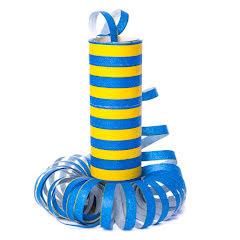 Serpentin, blå/gul
