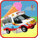 Ice Cream Van Truck 3D icon