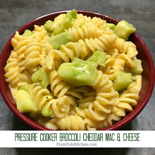 Pressure Cooker Broccoli Cheddar Mac & Cheese.