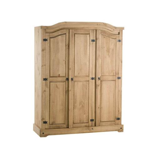 Birlea Corona Pine 3 Door Robe