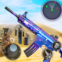 Shooter Battlefield: shooting FPS games 3D icon