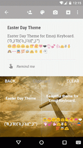 Easter Day Emoji Keyboard screenshot 3