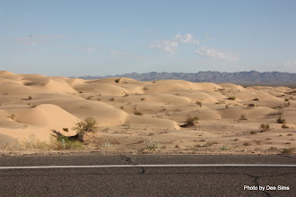 Photo: (Year 3) Day 37 - Sand Dunes With the Chocolate Mountains in the Background