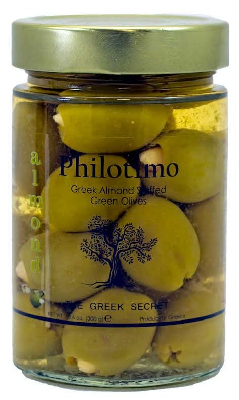 Halkidikioliver handfyllda med mandel – Philotimo