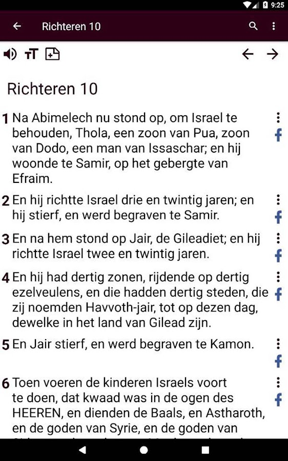 Dutch Bible DSV- screenshot