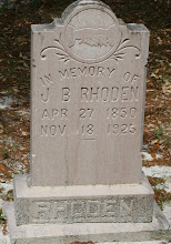 Photo: John Berrian Rhoden son of Isham J Rhoden and Annie Ellen Cathcart / Husband of Nancy Raulerson