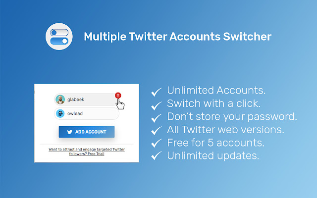 Multiple Twitter Accounts Switcher for Chrome