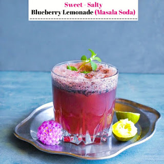 Sweet Salty Blueberry Lemonade (Masala Soda).
