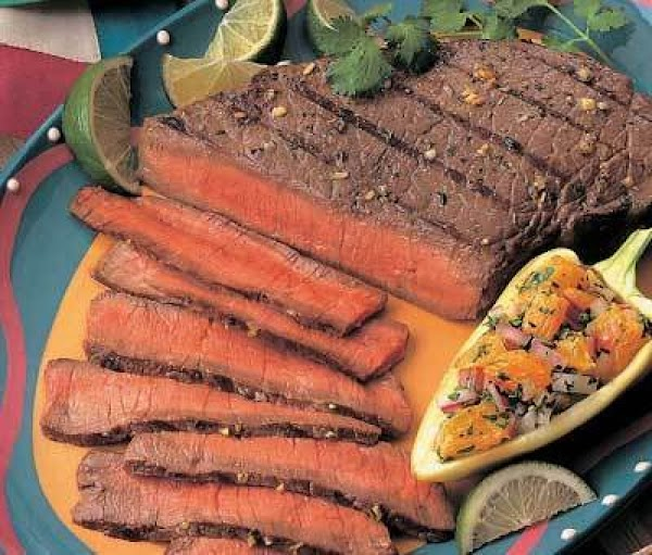 Margarita Beef With Orange Salsa Recipe