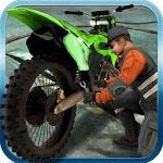 Sports Bike Mechanic Workshop Icon