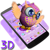 Cute Owl 3D Theme