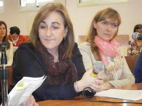 Photo: La Asociación Española contra el Cáncer. Aurora Calvo Presidenta de la Asociación y Ana Palomera, Psicóloga y Coordinadora de la Asociación