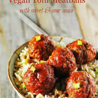 Vegan Tofu Meatballs.