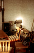 Photo: Out tool room was the only place with a bit of heat. We started the remodel in winter, and it was cold!