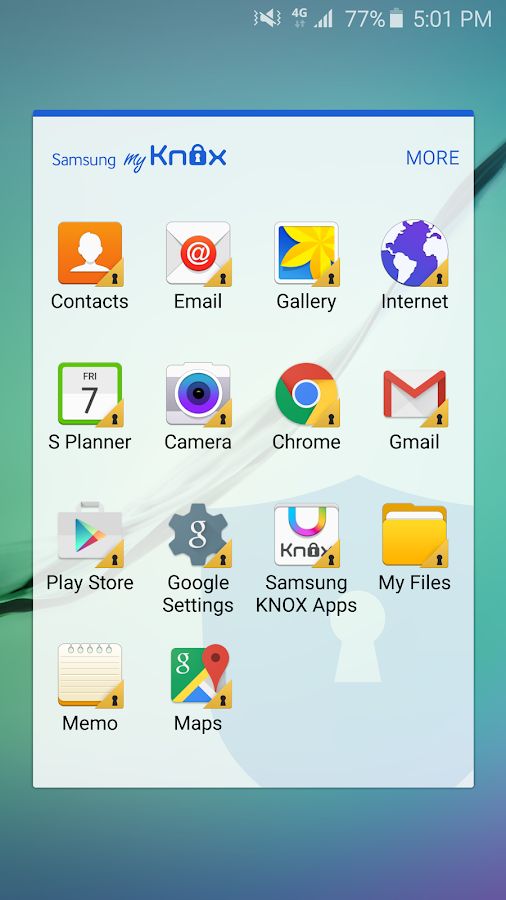 Samsung My Knox- screenshot