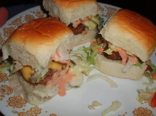 "Click Here for Recipe: Mini Sliders Burgers and Special Sauce ""I made..."