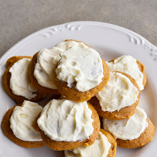 Pumpkin Cookies Recipe with Maple Buttercream Frosting