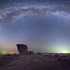 milky way panorama across the sky by Christianto Mogolid - Landscapes Starscapes ( planets, milkyway, sky, stars, astronomy, universe, panorama, galaxy )