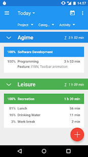 Agime - time sheet- screenshot thumbnail