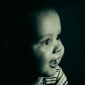 I see hope, I see the future, I see the light. by Cretu Stefan Daniel - Babies & Children Babies ( pure, face, white, black, kid )