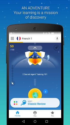 Screenshot 2 for Memrise's Android app'