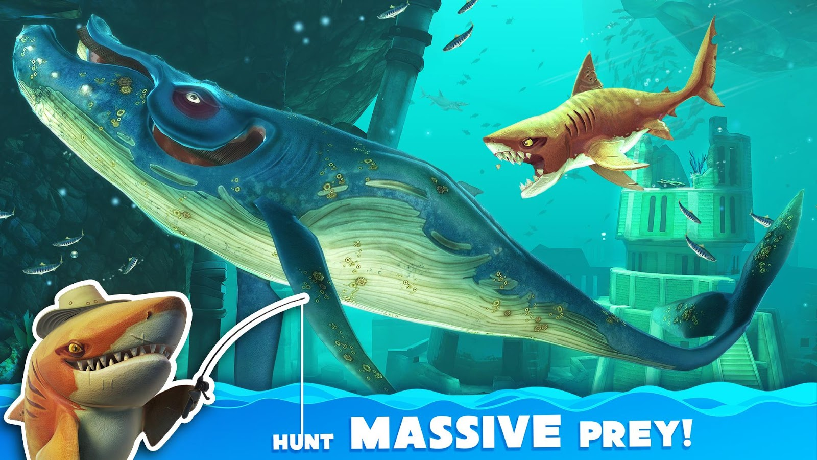 Screenshots of Hungry Shark World for iPhone