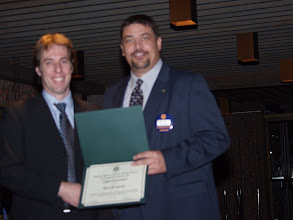 Photo: sorry about the focus - here Past President Joel Primeau receives a Chapter Service Award, originally presented at CRC 2008 in Montreal