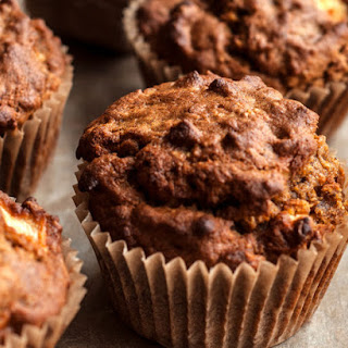 Spiced Pumpkin Apple and Oat Muffins