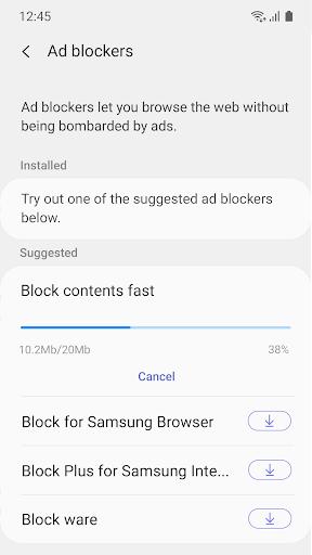 Samsung Internet Browser Beta screenshot 5