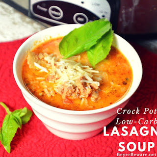 Crock Pot Low-Carb Lasagna Soup.