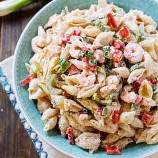 Shrimp Remoulade Pasta Salad.