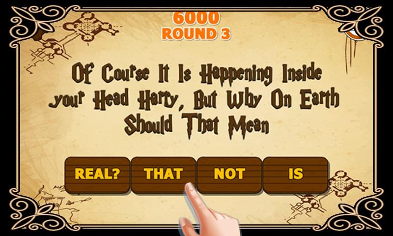 Riddle's Diary - Hogwarts Quiz- screenshot