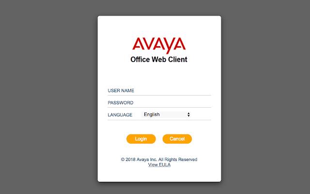 Avaya IP Office Web Client