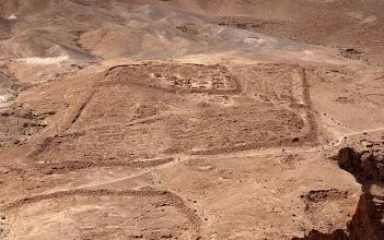 Photo: Roman Seige camp at Masada