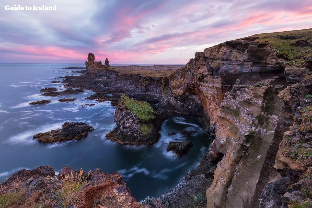Cliffs in Snæfellsnes penisula