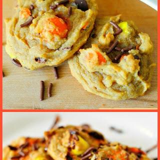 Peanut Butter Pumpkin Pretzel Cookies