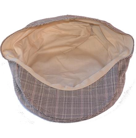 Check Flat Cap, beige