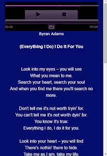 Bryan Adams Songs & Lyrics - náhled
