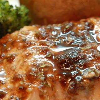 Balsamic-Glazed Salmon Fillets.
