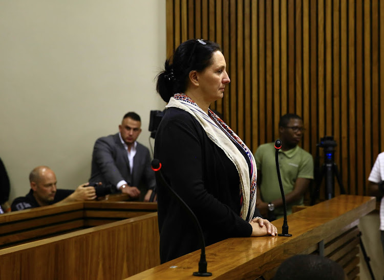 Convicted racist Vicki Momberg just after she was sentenced to 3 years in Randburg Magistrate court. 28 March 2018.