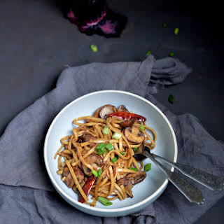 Garlic Mushroom Noodles.