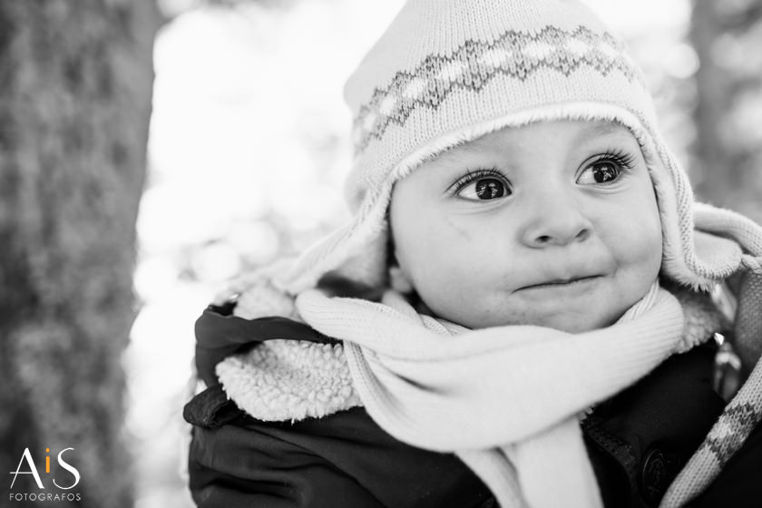 Reportaje infantil en la nieve